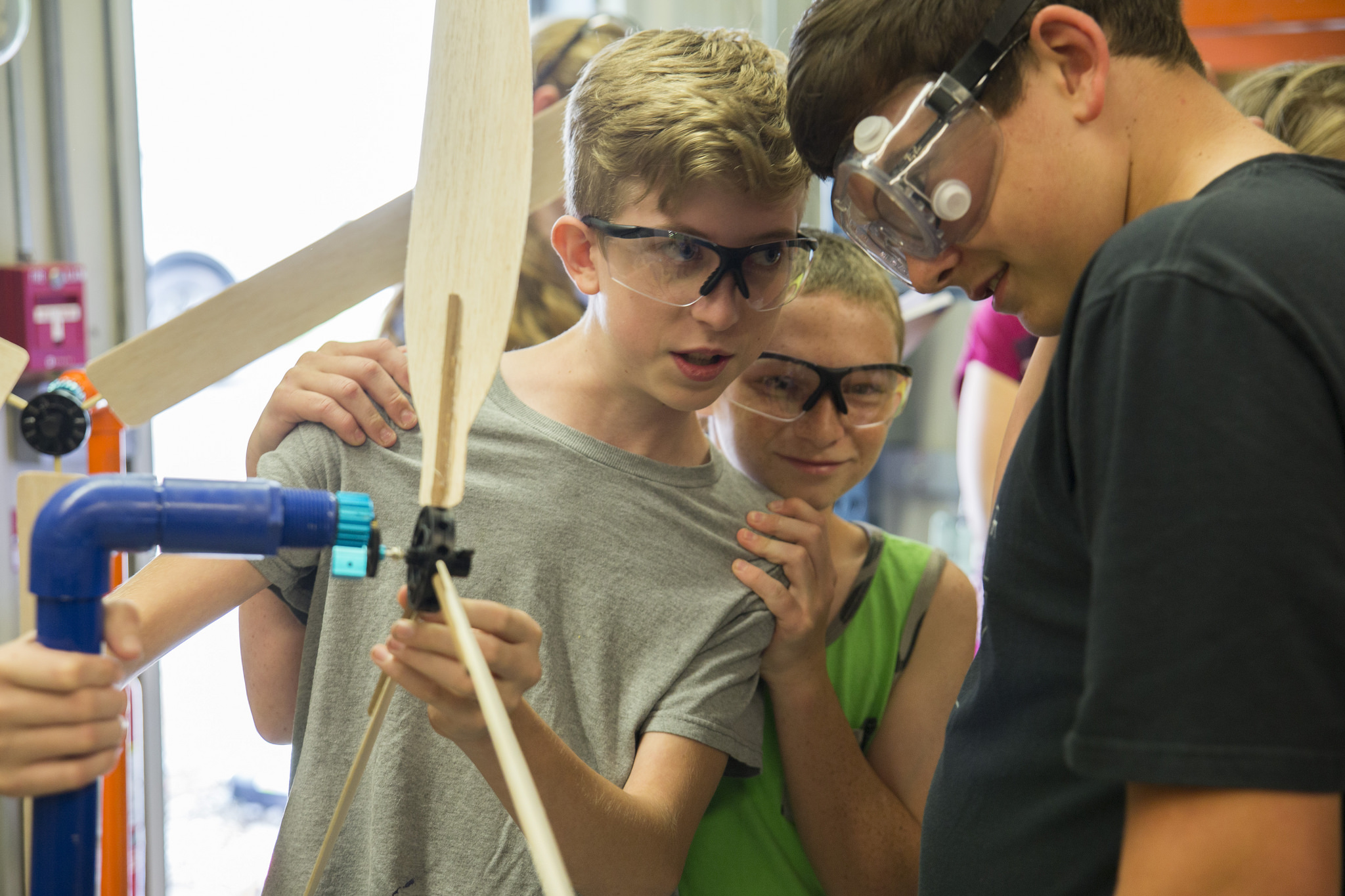 Young male students participate in the ARC/ORAU Oak Ridge Middle School Summer Science Academy