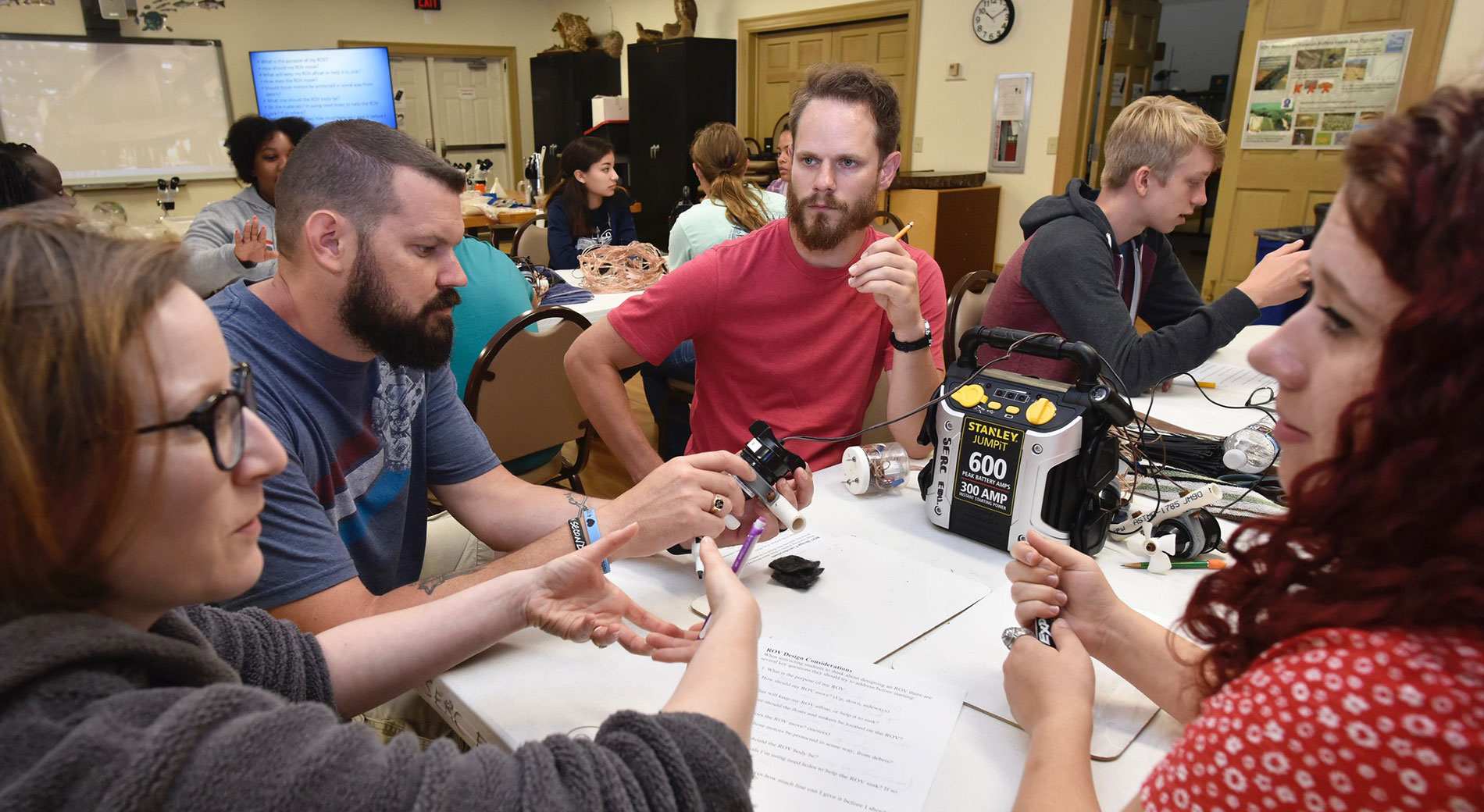 Group of K-12 STEM teachers engaged in professional development activity