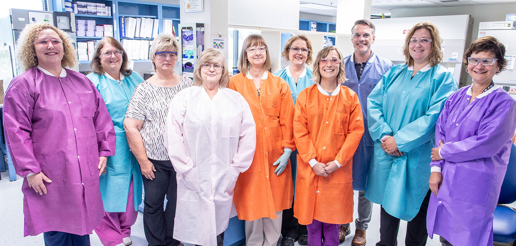 ORISE Beryllium Testing Laboratory staff pose for a group photo