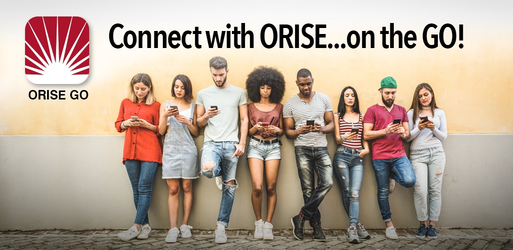 Connect with ORISE on the Go - group of students using the ORISE Go mobile app