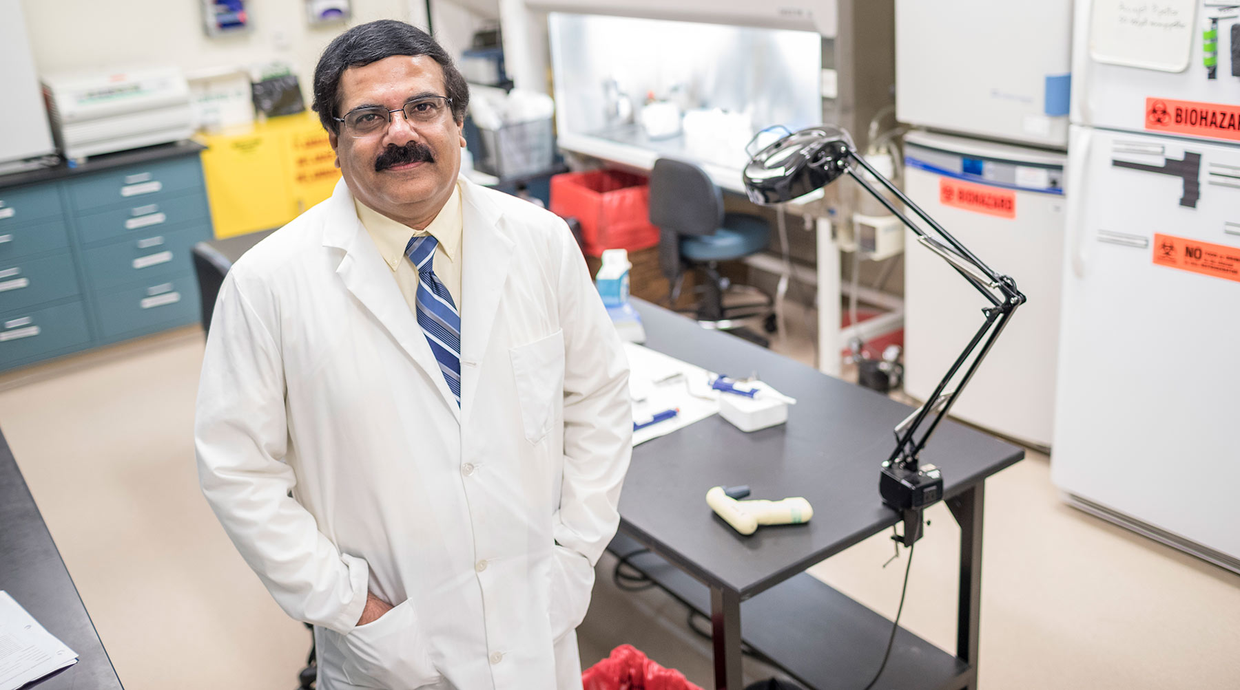 Dr. Adayabalam Balajee, director of the REAC/TS Cytogenetic Biodosimetry Laboratory