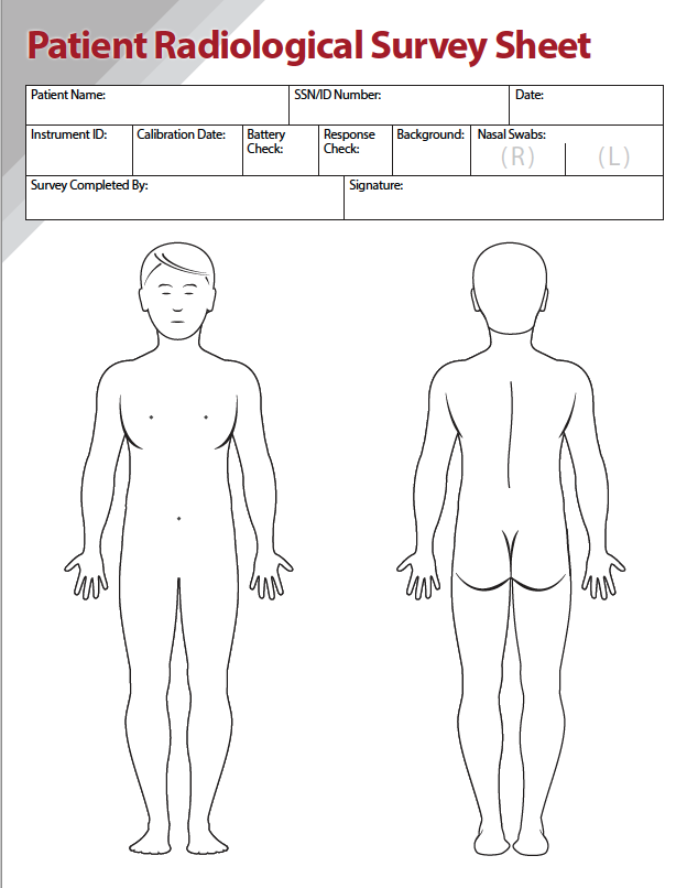 Patient Radiological Survey Sheet